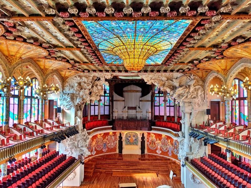 世界遺産「カタルーニャ音楽堂」のチケット予約、見どころを詳しく解説【バルセロナ】